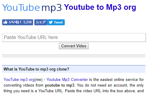 Youtube to Mp3 org